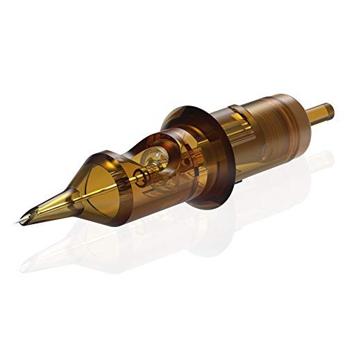 HAWINK Aghi per cartuccia per tatuaggio n. 10 Bugpin 7 Round Liner X-Taper 20PCS con membrana monouso professionale EN02-20-1007RL