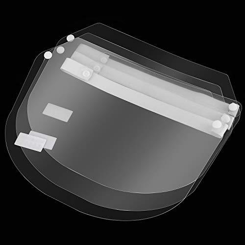 10 Pezzi Scudo di Completo Viso Stile Maschera Protettiva di Viso Protettiva Copertura Antiappannamento Riutilizzabile Copertura Facciale di Sicurezza Regolabile per Uomo Donna Uso Quotidiano