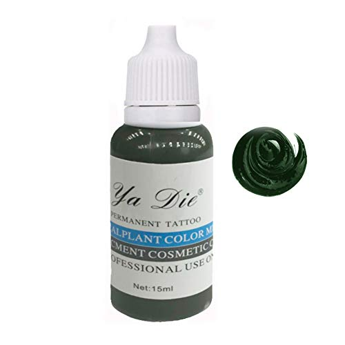 1/2 oncia. trucco permanente microblading pigmento tatuaggio inchiostro sopracciglia labbra colore duraturo tatuaggio arte del corpo (green caffeine)