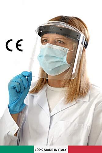 2 Pcs Visiera Protettiva trasparente, Face Shield, Antipolvere, Antigoccia, Professionale