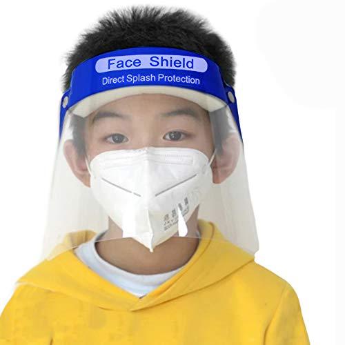 2 Pezzi Visiera Protettiva Regolabile ad Alta Trasparenza Plastica PET, Protezione per Bambini Antiappannamento, Protective Face Shield (2 Pezzi)