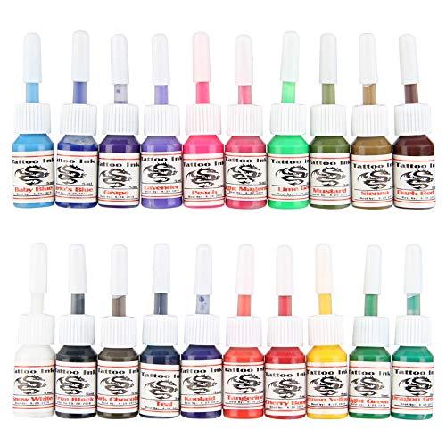 20 pezzi 5ml Inchiostro per Tatuaggi Kit di Pigmenti Microblading Professionali Tatuaggio Permanente per Sopracciglia Body Art Weimob