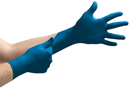 200 guanti monouso in nitrile in scatola dispenser, senza talco, non sterili, guanti usa e getta (XL)