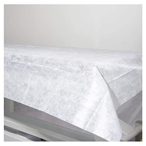 25 Lenzuola usa e getta non regolabili, in tessuto non tessuto 100% riciclabile 80x200 cm, impermeabile e ipoallergenico, ideale per letti, lettini da massaggio, letto ospedale. Prodotto in Spagna