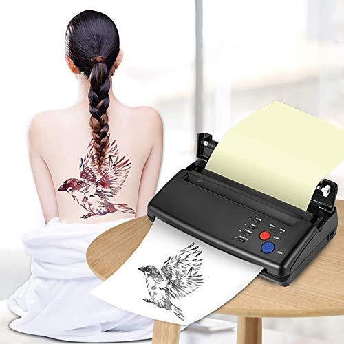 4YANG Tattoo Transfer Machine,Stampante per stencil per tatuaggi Stampante termica con 10 pezzi,Copiatrice della stampante di trasferimento del carbonio di Anself per forniture per tatuaggi fai da te