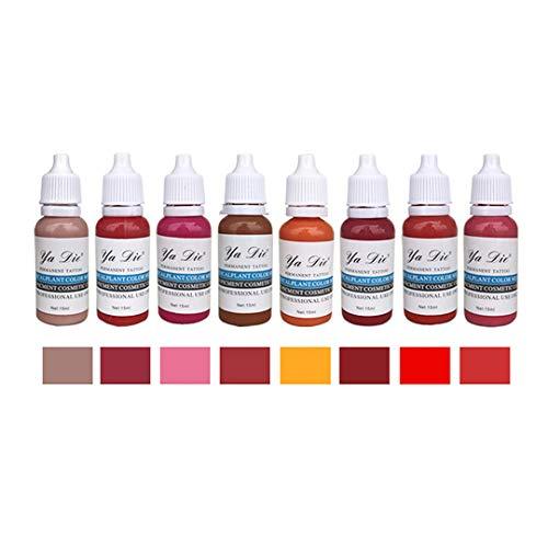8 colori tatuaggio inchiostro set trucco permanente vernice pigmento per inchiostro rossetto permanente per lipofattore