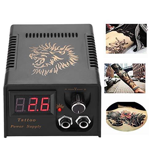 Alimentatore Per Macchina Del Tatuaggio, Schermo LCD Professionale Lion Head Tattoo Power Supply Tattoo Nero Transformer Per Soggiorno (EU)