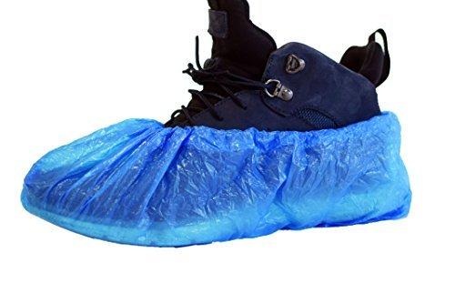 ASPRO 1 Confezione (100 pezzi) Copriscarpe monouso - Copriscarpa in plastica impermeabile – Per coprire il piede - Protezioni per scarpe impermeabili e antipolvere da interno (100 pezzi)