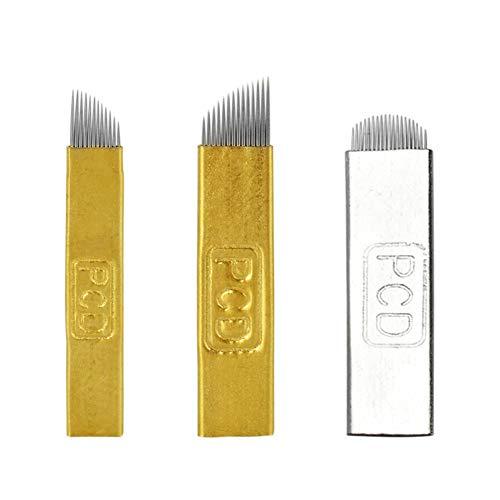 ATOMUS 60 pezzi aghi microblading 12pin 14pin 19u pcd manuale sopracciglia usa e getta tatuaggio lame microblading ago trucco permanente (60pcs 12PIN 14PIN 19U)