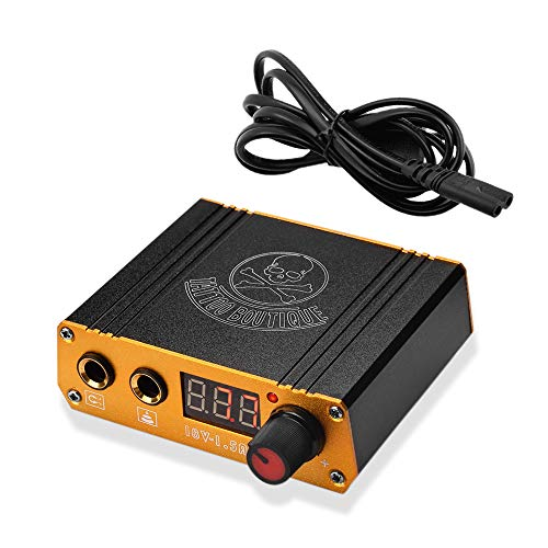 ATOMUS Black Tattoo Power Supply Digital Display Tattoo Machine Power Supply for Liner Shader Tattoo Zubehor with Power Cable(black)