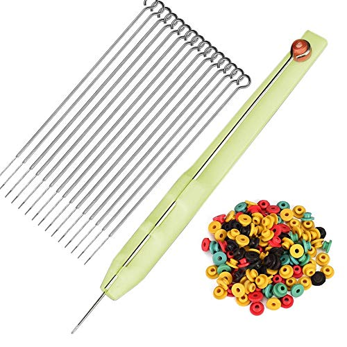 ATOMUS Hand Poke Pen and Stick 50pcs Tattoo Grommet Tattoo Needles 10pcs of Each 1RL/3RL/5RL7RL/9RL