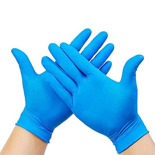 AVO+, guanti usa e getta di medie dimensioni, ipoallergenici, senza lattice, guanti in nitrile di alta qualità, ideali per pelli sensibili, antiscivolo, senza olio, senza polvere