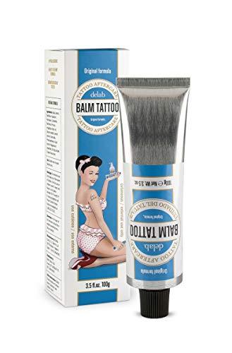 BALM TATTOO - Crema per Tatuaggi Cream - Balm Tattoo Original - Tattoo Aftercare - Rapido Assorbimento - Facilita la Guarigione e la Cicatrizzazione del Tatuaggio - Tatuaggi Nitidi e Sani - 100 gr