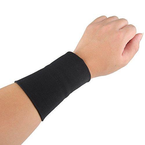 Bewish Manutenzione Avambraccio tatuaggio copertura maniche protezione coscia compressione polso fascia per donne uomini nero L