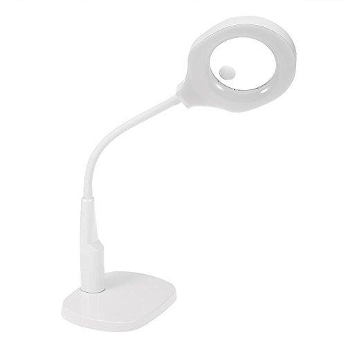 Brino Lampada d'ingrandimento a LED con morsetto da tavolo, luce per saloni di cosmetica, tatuaggi, manicure, per varie pratiche, lettura, LED da 5x 12x