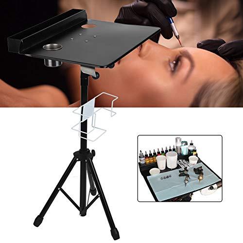 Brrnoo Professional Mobile Tattoo Work Desk, Tavolo da esposizione regolabile staccabile, stazione portatile, per salone del tatuaggio, salone di bellezza e barbiere
