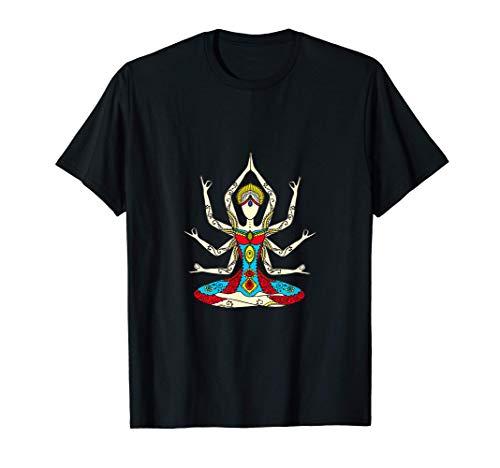 buddha Yoga Zen Meditation Lotus Buddismo pace amore regalo Maglietta