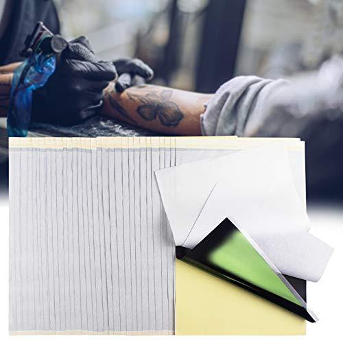 Carta Transfer per Tatuaggio 35 Fogli, Carta Termica per Stencil in Carbonio per Tatuaggio 4 Strati per Macchina Transfer Adatta per Disegni di Tatuaggi Personalizzati