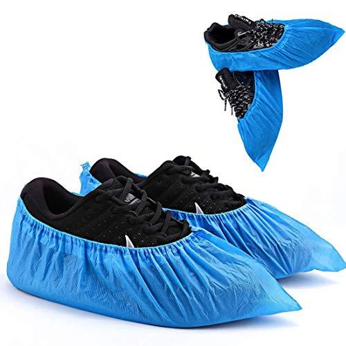 Copriscarpe Monouso Copriscarpe in Tessuto Non Tessuto 400g 100 pezzi(50 paia) mantiene pulito il tappeto della stanza e l'interno dell'auto-Ambienti interni ed esterni-Riciclabili-Blu