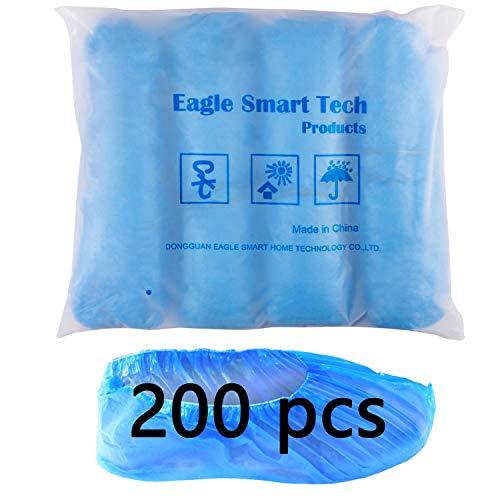 Copriscarpe usa e getta, 200 pezzi, Antiscivolo e Durevole ,con Elastico Stabile, Copriscarpe Monouso blu è resistente alla polvere e durevole