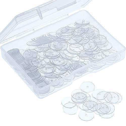 Cuscinetto a Disco Chiari per Stabilizzare Orecchini, Dischi di Plastica per Orecchini Posteriori (200)
