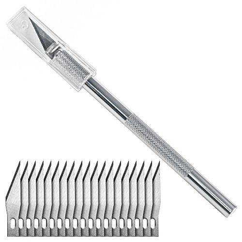Cutter di precisione con 20 lame di ricambio, tipo 11
