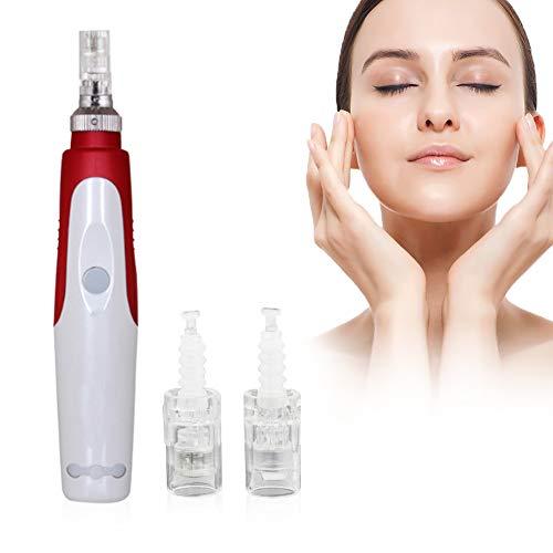 Dermapen, Microneedling Elettrico, Derma Stamp, Risolvi l'intasamento dei pori, rimuovi le macchie di acne, assorbe perfettamente l'essenza della pelle, Contiene 12 aghi e 36 aghi