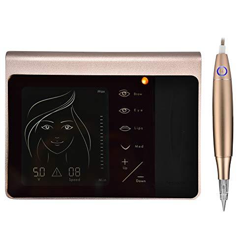 Duevin Macchina Multifunzionale del Tatuaggiotattoo Touch Screen Panel, Macchina per il Trucco Permanente Digitale Professionale Labbro Semi-Permanente per Eyeliner Sopracciglia(EU)
