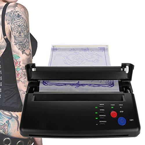 Duevin Stencil Tattoo Macchina per Tatuaggi Professionali Stampante Termicatattoo Professionale Kit per Carta A4 A5 Thermal Copier Printer Machine