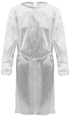 Fil-co Camice visitatore monouso in 100% Polipropilene Idrorepellente- Surgical Body Protection- Materiale ipoallergenico (1)
