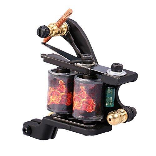 Fodera di Shader di arma a fuoco per tatuaggio di modello di fuoco di drago, macchina per tatuaggi con bobina da 10 professionisti.