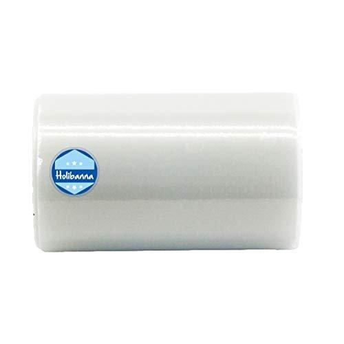 Holibanna 100M Pellicola Scarpe Automatico per Distributore Automatico di Copriscarpe Monouso Copri Scarpe e Protezioni 1 Rotolo da 6.2 x 2.75 in