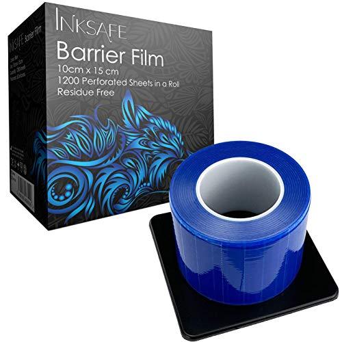 Inksafe - Rotolo di pellicola protettiva adesiva per barriera, 10 cm x 15 cm, 1200 fogli, medico, dentistico, tatuaggio, bellezza