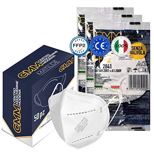 KARAEASY Mascherine ffp2 Certificate Ce 100% Made Italy Confezione da 50 Pezzi Mascherina Ffp2 PFE ≥95%
