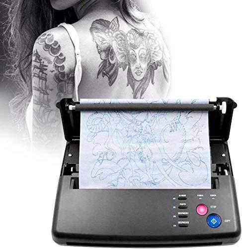 KKTECT stampante stencil tattoo Macchina transfer per tatuaggi Transfer Tattoo Printer Copiatric per stampante a trasferimento di stencil con 10 pezzi di carta a trasferimento termico