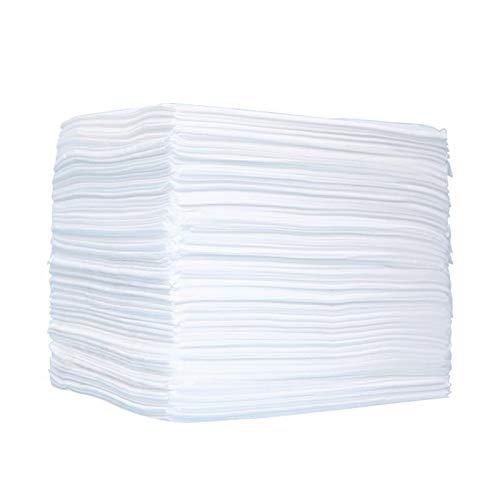 Lenzuolo monouso 100 pezzi 80 * 180 cm, stuoia igienica sterile ispessita monouso impermeabile non tessuta per salone di bellezza, massaggi, tatuaggio, hotel, bianco