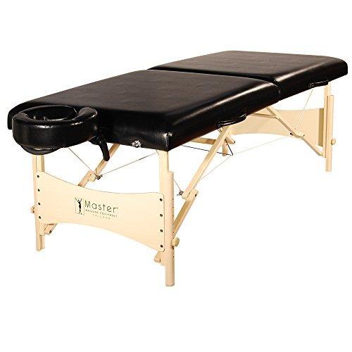 Lettino da massaggio Balboa con tavolo da massaggio per terapia del tatuaggio, larghezza 70 cm, nero