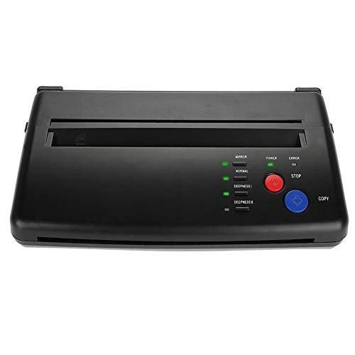 Macchina transfer per tatuaggi, carta portatile A5 A4 Macchina da stampa termica per stampanti a getto d'inchiostro con 2 indicatori luminosi, specificatamente per tatuatori(EU)