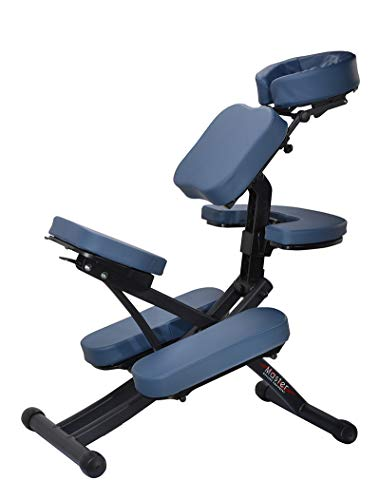 Master Massage Rio Portable Massage Chair Lightweight Strong Deluxe Adjustable Storable with Luggage Sedia massaggiante Portatile, Standard