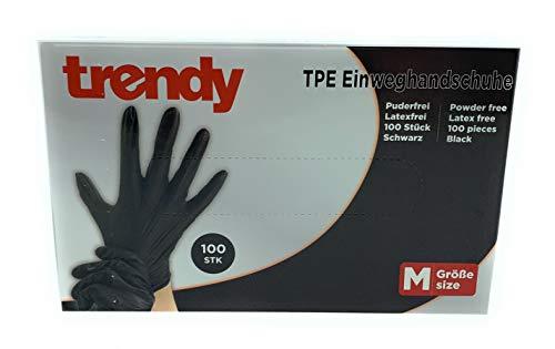 MC-Trend 100 guanti usa e getta in TPE, senza polvere, senza lattice, in scatola dispenser (lungo)