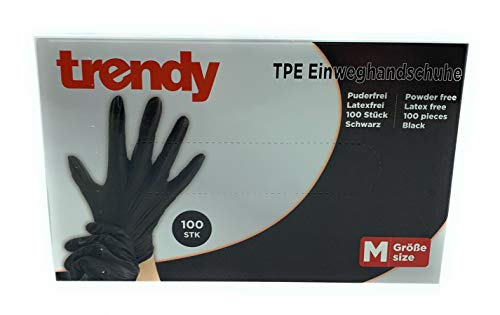 MC-Trend 100 guanti usa e getta in TPE, senza polvere, senza lattice, in scatola dispenser (medio)