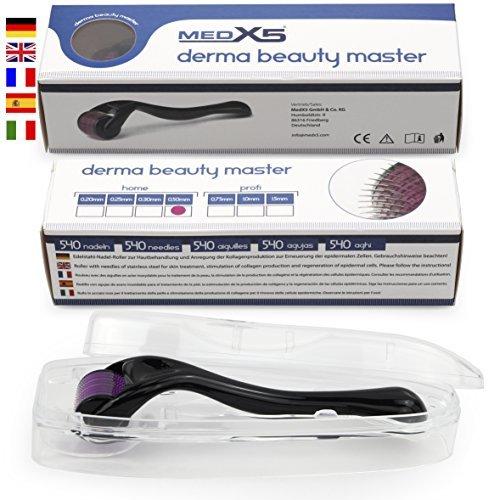 MedX5® Dermaroller da 0,5 mm (aghi in acciaio inox), dermaroller contro cicatrici profonde e cellulite grave, Medical Device Class I