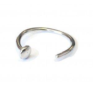 Mia Gioielli - Piercing Anello Cerchio Naso Oro 18k (750) Bianco - Anallergico per Donna Ragazza - F-09197-0B00