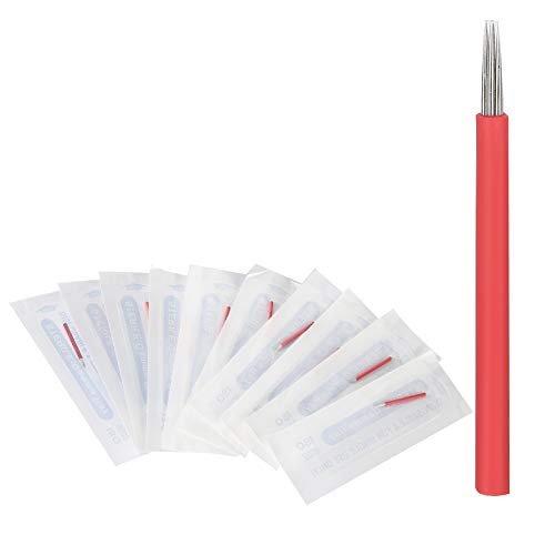 Monouso Microblading aghi, sopracciglio semipermanente strumento tatuaggio manuale 3/7/9 pin per sopracciglia labbra Eyeliner penna Microblading 50pcs (R 7)