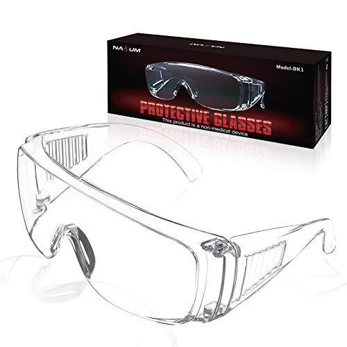 NASUM Pieghevole Occhiali Protettivi, Occhiali Protettivi da Lavoro,Occhiali Antipolvere, per uso Industriale, Agricolo o di Laboratorio(1 Paio)