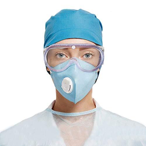 Occhiali di Sicurezza Protezione , Trasparenti Regolabili Occhiali Protettivi Resistenti AntiGraffio Agli Schizzi e Anti-Appannamento Antivirus Occhiali Protettivi Professionali