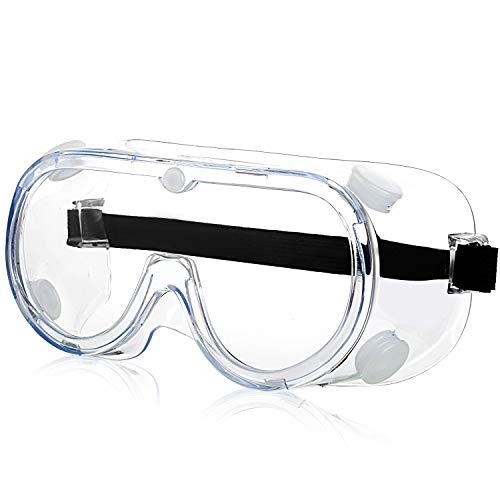 Occhiali di sicurezza - Protezioni per gli occhi Laboratorio Antiappanno Occhiale Protettivi Occhiali Sicurezza e protezione Attrezzature per sicurezza sul lavoro Trasparenti (1 Pezzi)