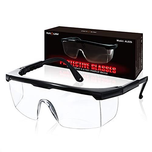 Occhiali Protettivi da Lavoro NASUM, Occhiali di sicurezza, Pieghevole Occhiali Protettivi, Occhiali Antipolvere, per uso Industriale, Agricolo o di Laboratorio(1 Paio)