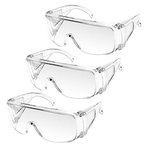 Occhiali protettivi Occhiali protettivi, UNTIRE Occhiali protettivi Occhiali antiappannamento con lente resistente agli urti Protezione degli occhi per laboratorio di costruzione di lavori fai-da-te