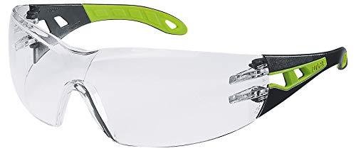 Occhiali Protettivi uvex Pheos | Lenti PC Incolore | Protezione UV 400 | NF EN 166 170 | Lenti Interne Antiappannanti | Lenti Esterne Antigraffio e Resistenti Alle Sostanze Chimiche